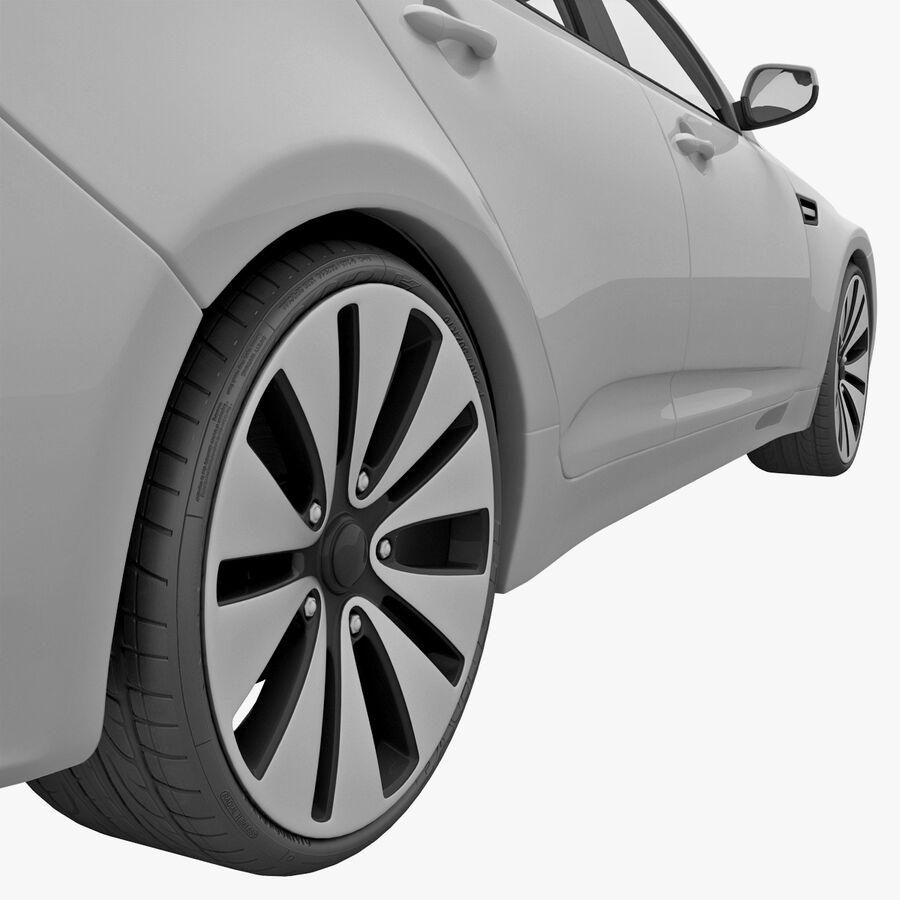 Kia Optima 2011 royalty-free 3d model - Preview no. 21