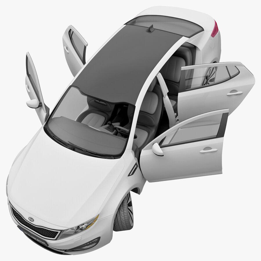 Kia Optima 2011 royalty-free 3d model - Preview no. 66