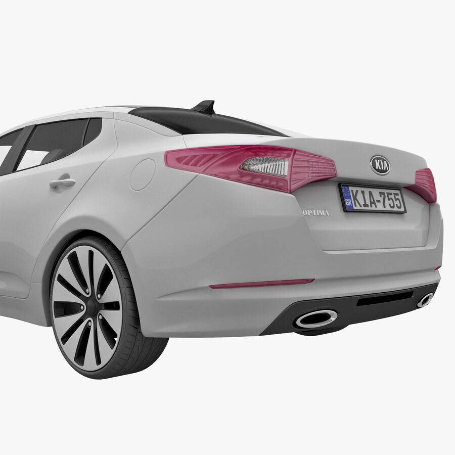 Kia Optima 2011 royalty-free 3d model - Preview no. 16