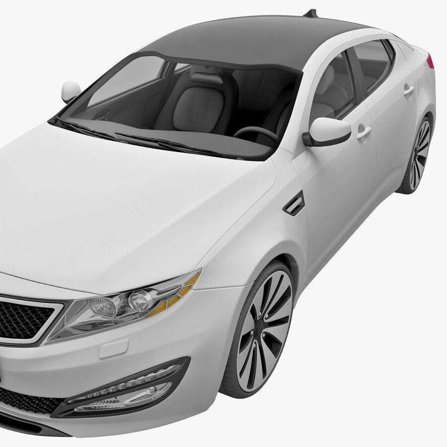 Kia Optima 2011 royalty-free 3d model - Preview no. 13