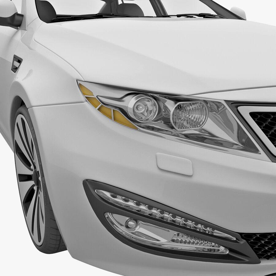 Kia Optima 2011 royalty-free 3d model - Preview no. 42