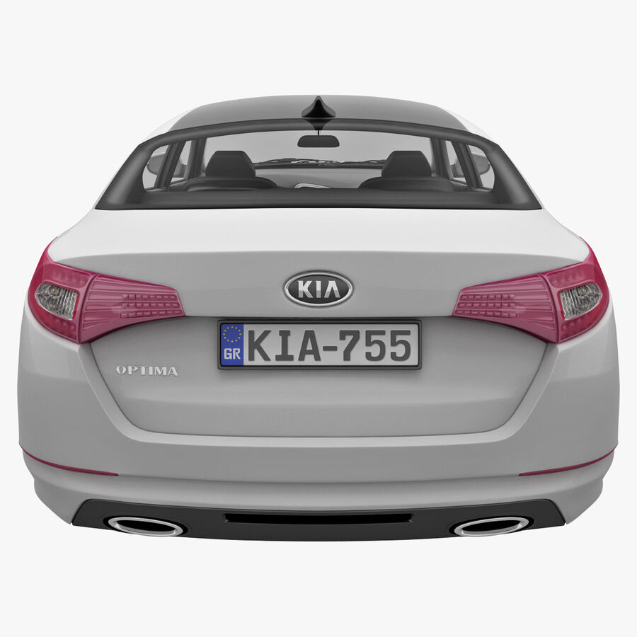 Kia Optima 2011 royalty-free 3d model - Preview no. 9