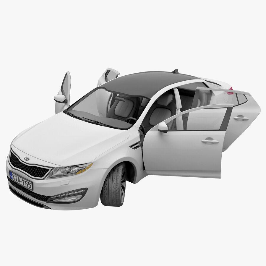 Kia Optima 2011 royalty-free 3d model - Preview no. 54