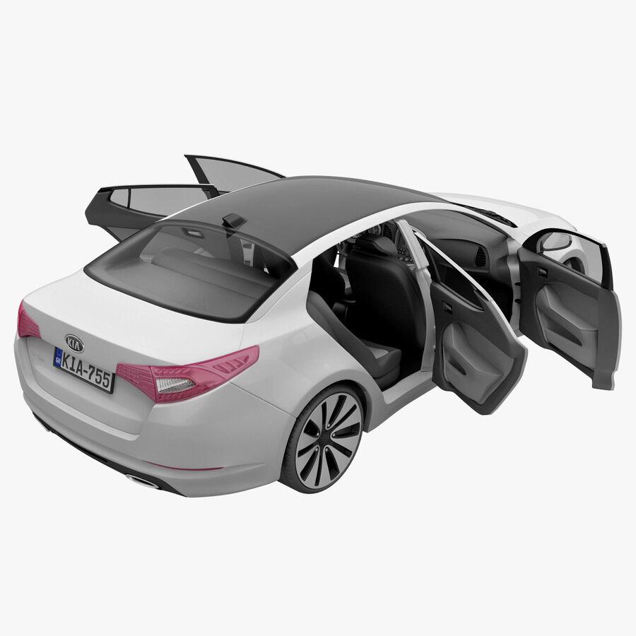Kia Optima 2011 royalty-free 3d model - Preview no. 55