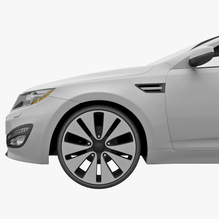 Kia Optima 2011 royalty-free 3d model - Preview no. 17