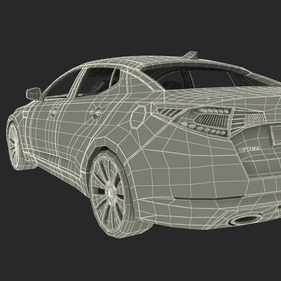 Kia Optima 2011 royalty-free 3d model - Preview no. 77