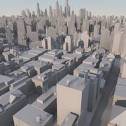 Organisches Stadtmassenmodell 3d model