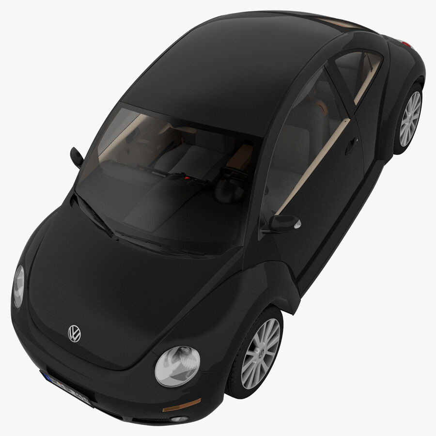 VW Beetle 1998 royalty-free 3d model - Preview no. 27