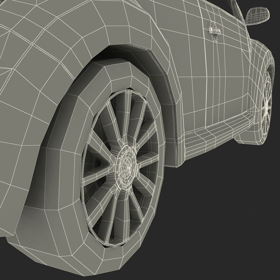 VW Beetle 1998 royalty-free 3d model - Preview no. 58