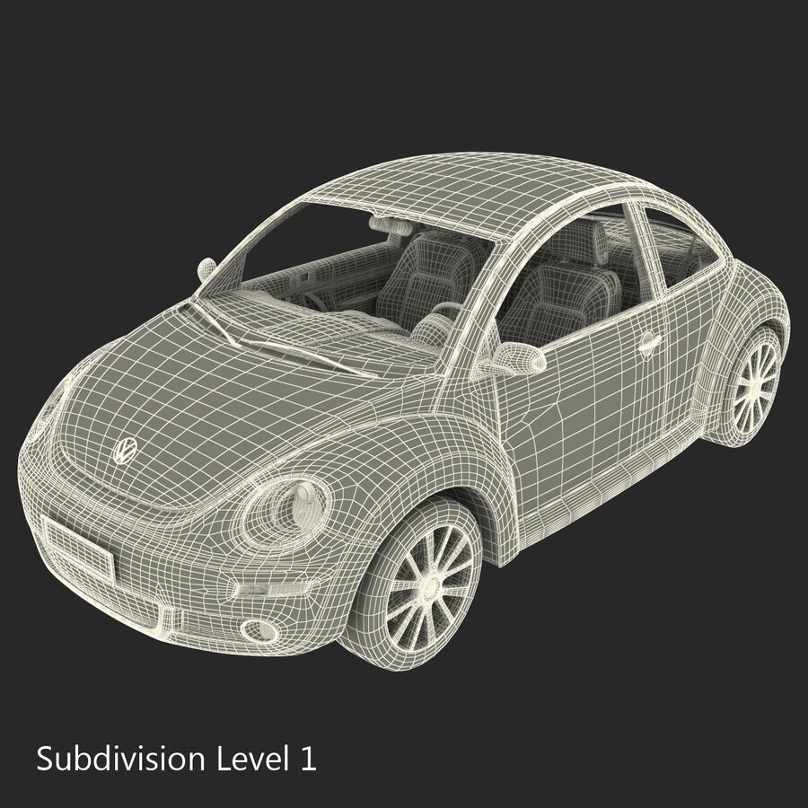 VW Beetle 1998 royalty-free 3d model - Preview no. 73