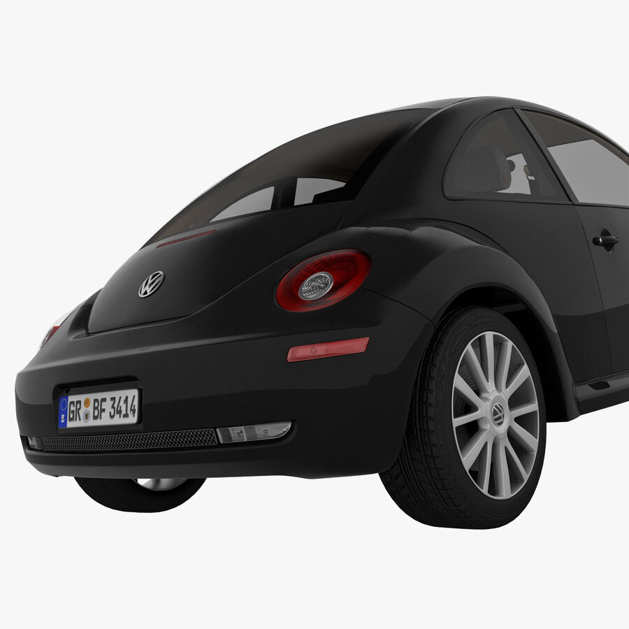VW Beetle 1998 royalty-free 3d model - Preview no. 28