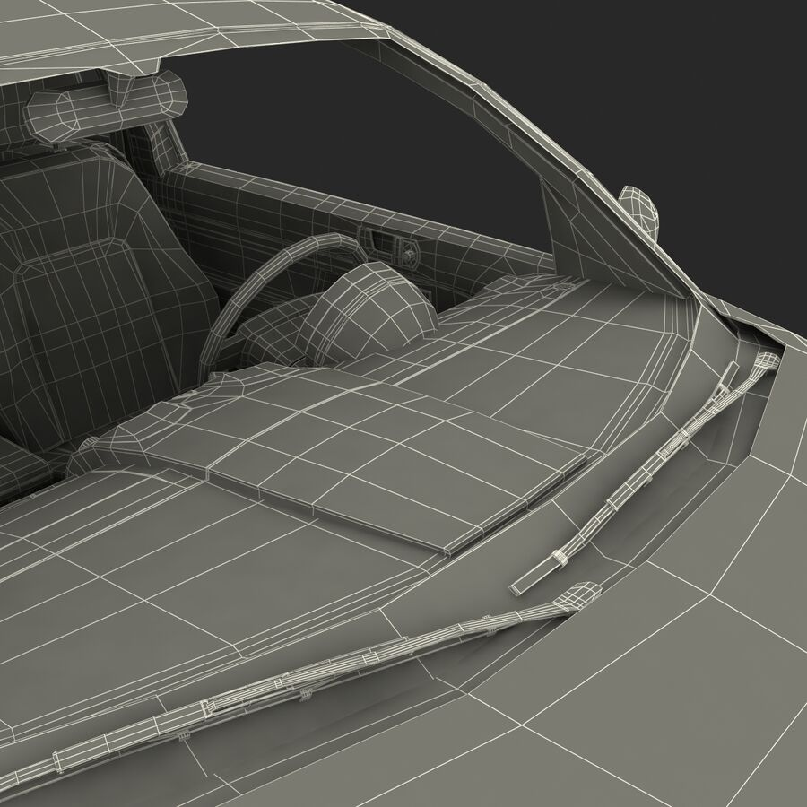 VW Beetle 1998 royalty-free 3d model - Preview no. 61
