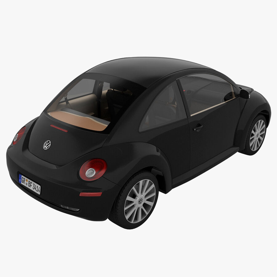 VW Beetle 1998 royalty-free 3d model - Preview no. 4