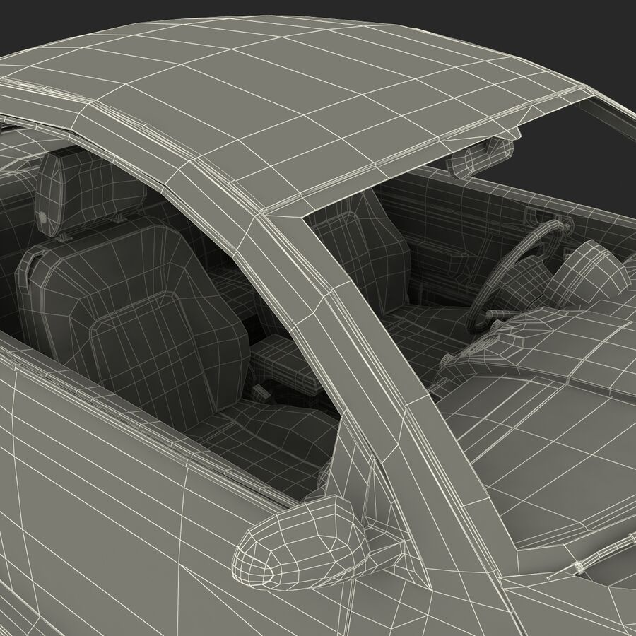 VW Beetle 1998 royalty-free 3d model - Preview no. 71