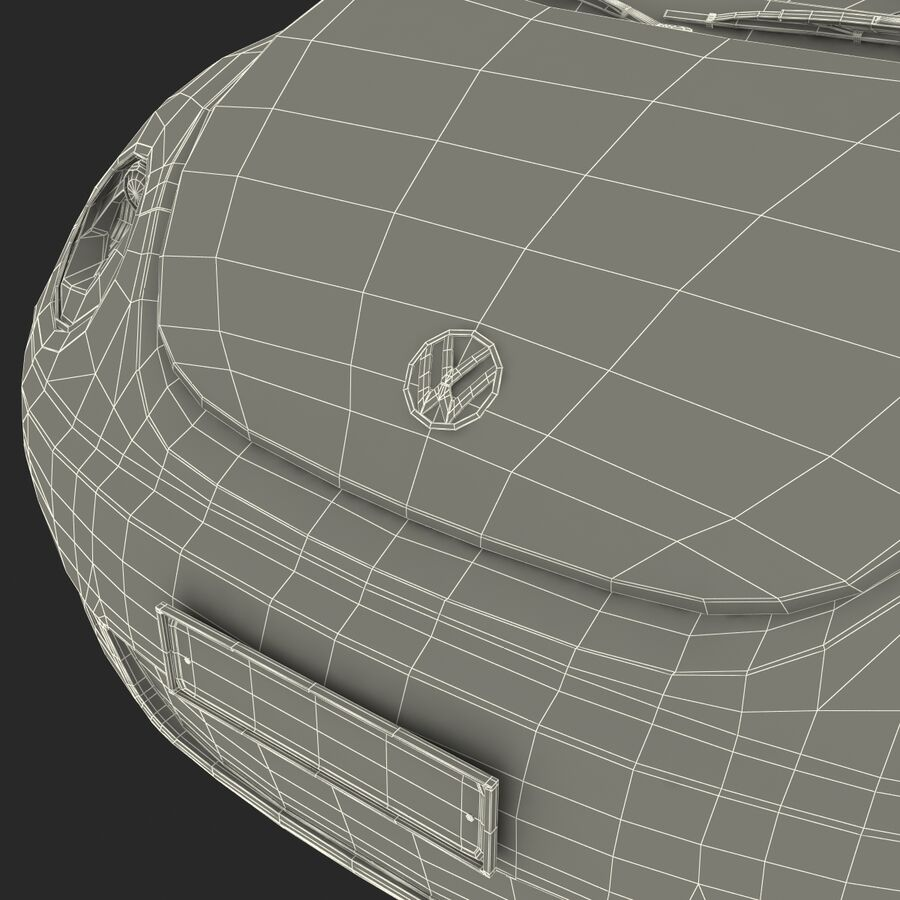 VW Beetle 1998 royalty-free 3d model - Preview no. 67