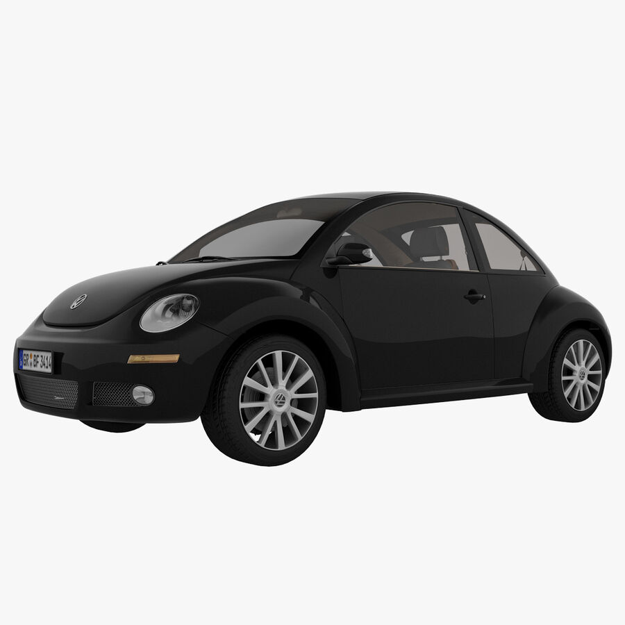 VW Beetle 1998 royalty-free 3d model - Preview no. 22
