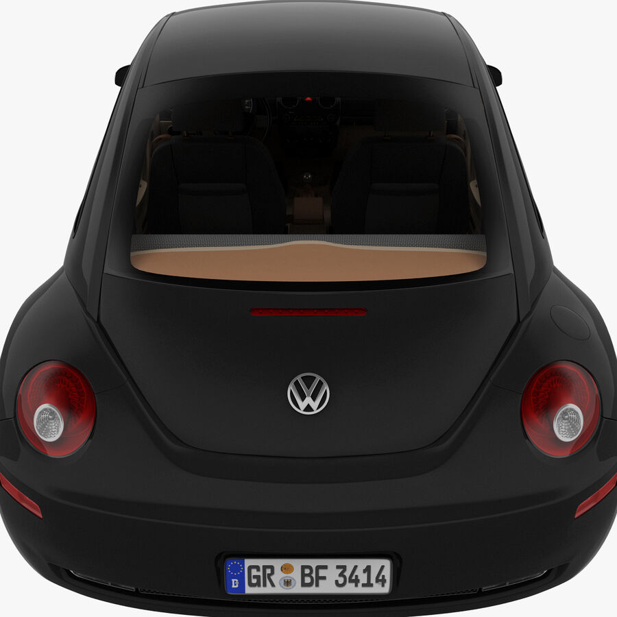 VW Beetle 1998 royalty-free 3d model - Preview no. 36