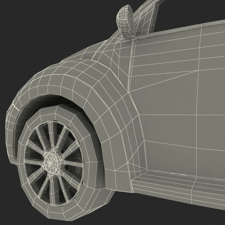 VW Beetle 1998 royalty-free 3d model - Preview no. 68