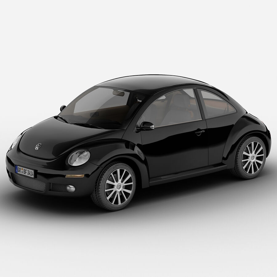 VW Beetle 1998 royalty-free 3d model - Preview no. 2