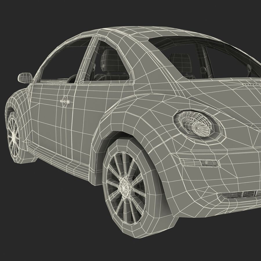 VW Beetle 1998 royalty-free 3d model - Preview no. 57