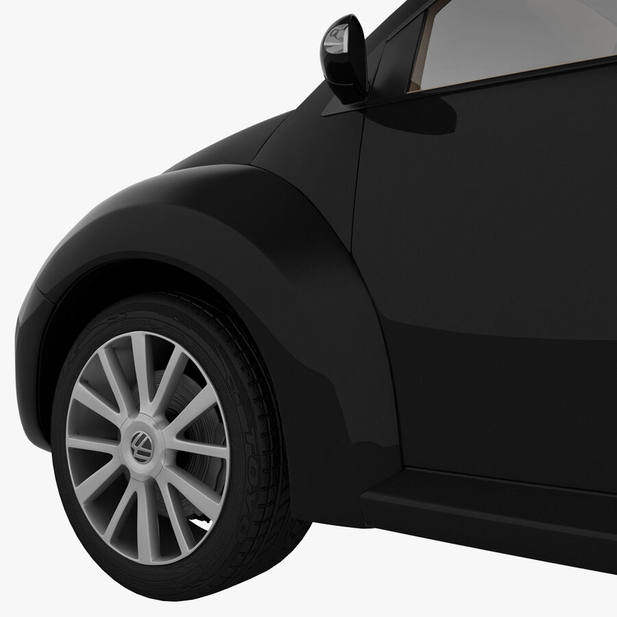 VW Beetle 1998 royalty-free 3d model - Preview no. 40