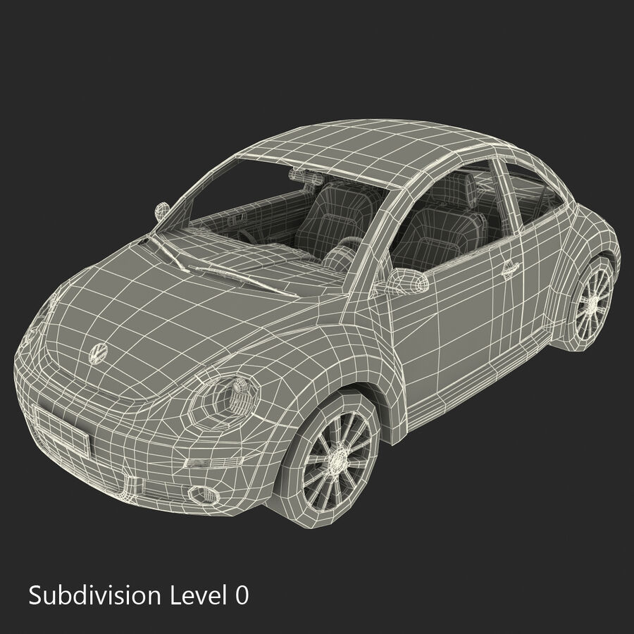 VW Beetle 1998 royalty-free 3d model - Preview no. 72