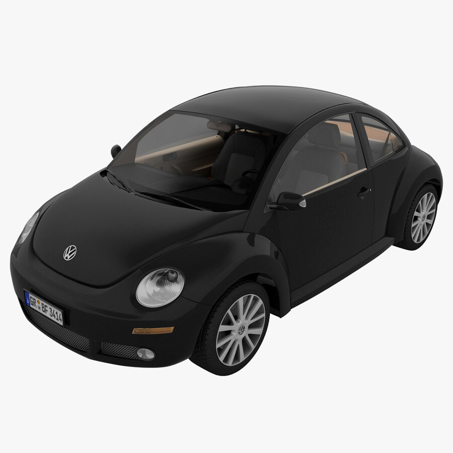 VW Beetle 1998 royalty-free 3d model - Preview no. 3