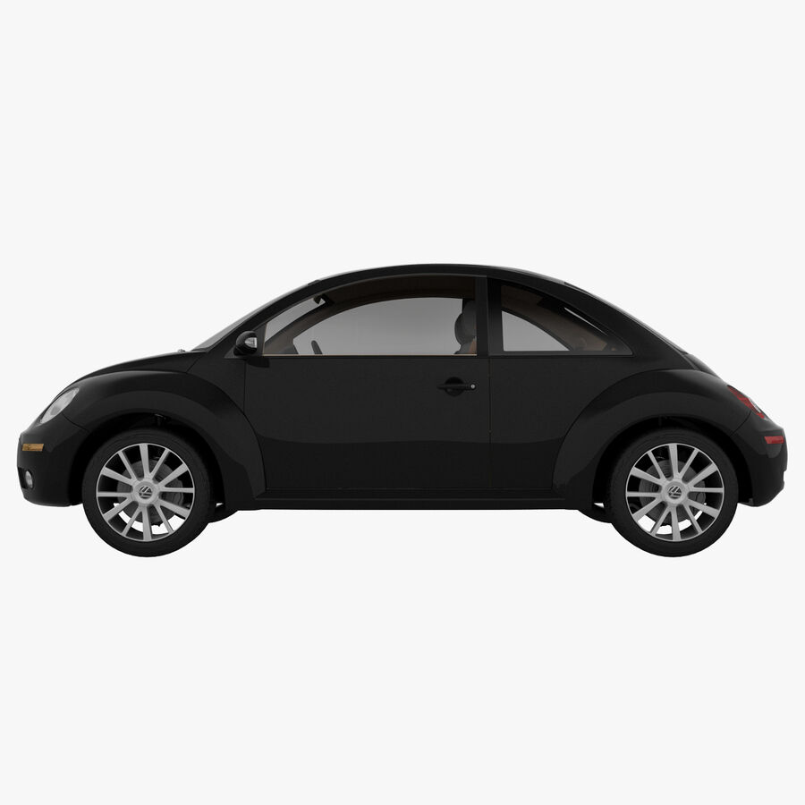 VW Beetle 1998 royalty-free 3d model - Preview no. 6