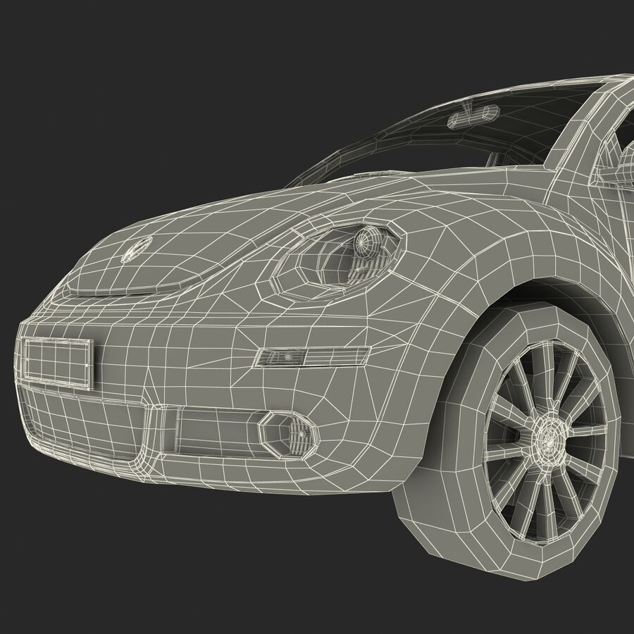 VW Beetle 1998 royalty-free 3d model - Preview no. 64