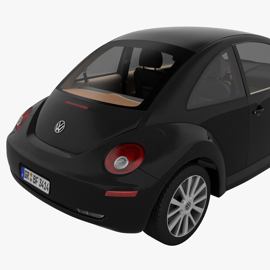 VW Beetle 1998 royalty-free 3d model - Preview no. 15