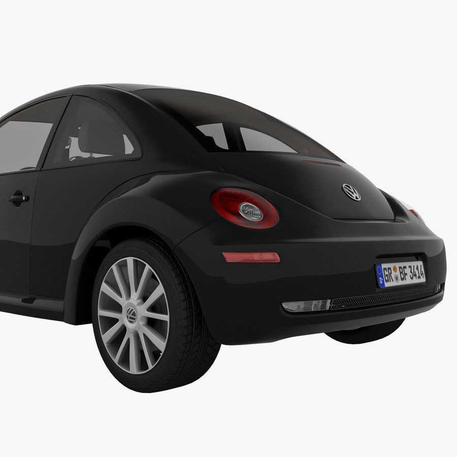 VW Beetle 1998 royalty-free 3d model - Preview no. 16