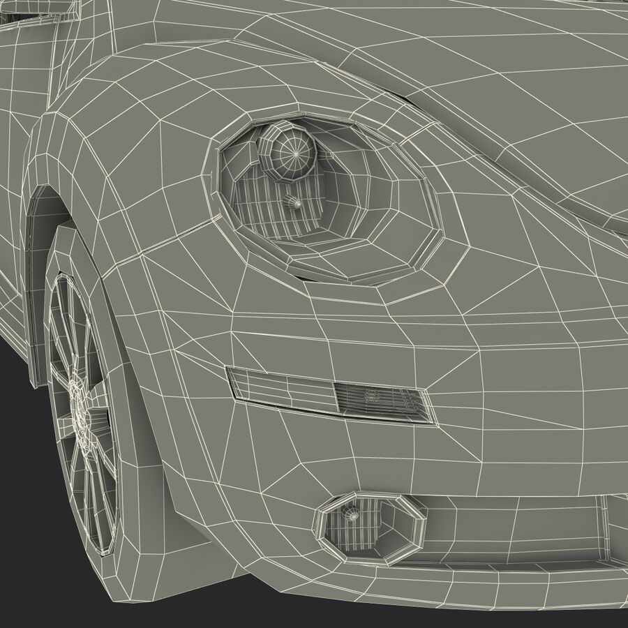 VW Beetle 1998 royalty-free 3d model - Preview no. 69