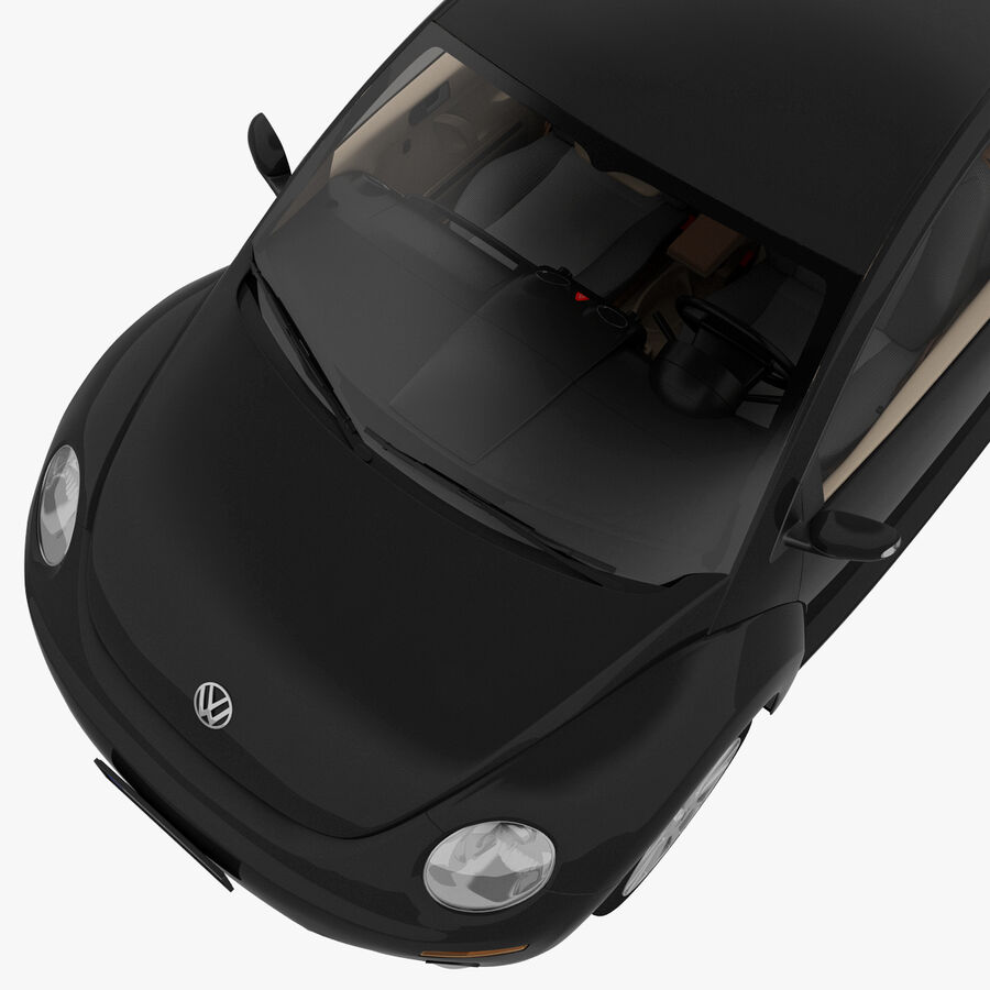 VW Beetle 1998 royalty-free 3d model - Preview no. 18