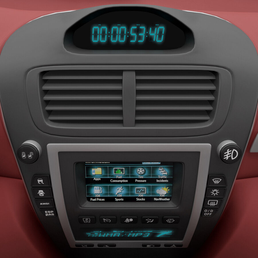 도요타 캠리 2012 페이스 카 royalty-free 3d model - Preview no. 53
