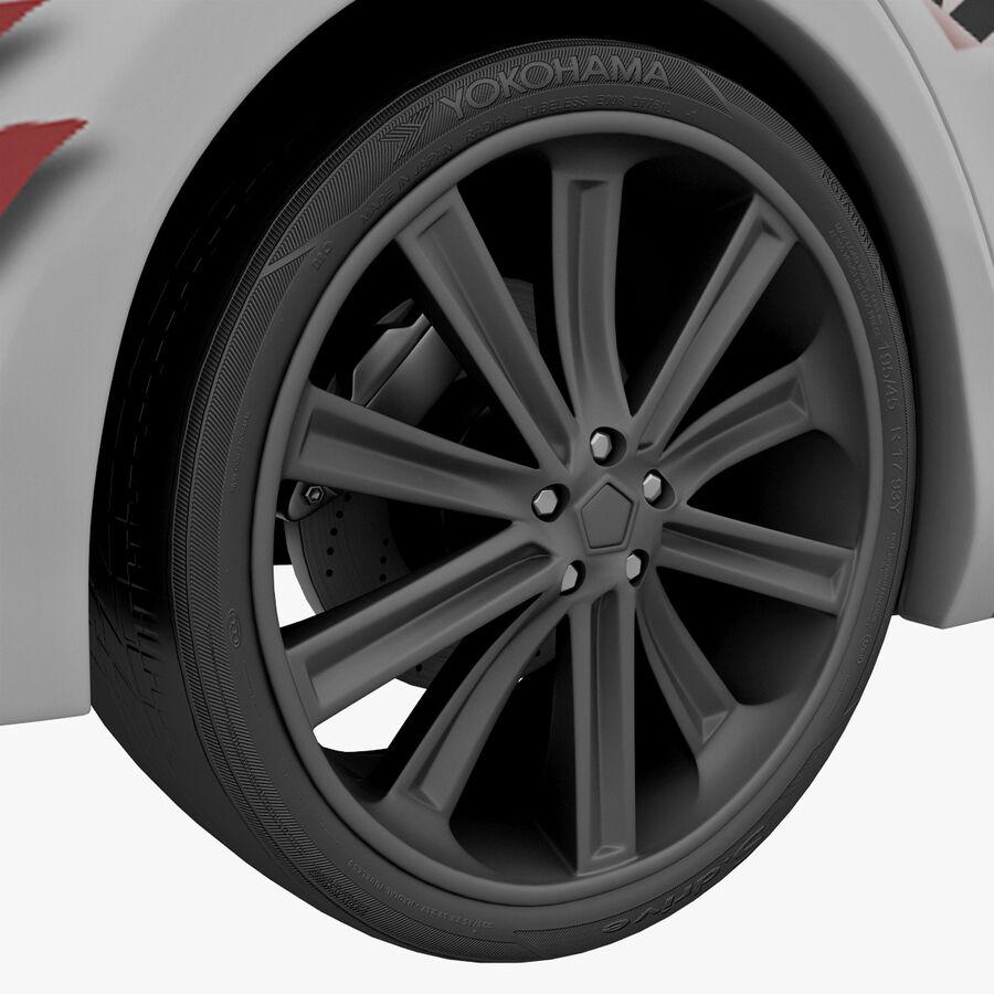 도요타 캠리 2012 페이스 카 royalty-free 3d model - Preview no. 32
