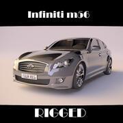 infiniti m56 rigged 3d model