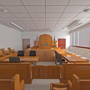 Зал суда 3d model