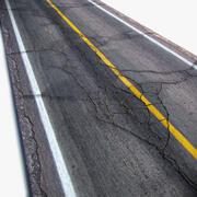 Szczegółowa droga 3d model