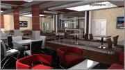 Restaurang och kaféplats 3d model