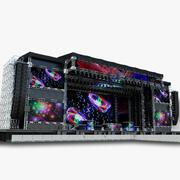 Mega Stage - zestaw DJ 3d model