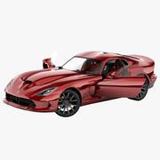 Dodge SRT Viper 2013 Rigged 2 3d model