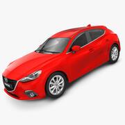 Mazda 3 Hatchback 2014 modelo 3d