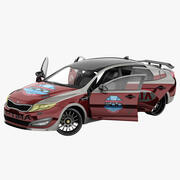 Kia Optima 2011 Pace Car opgetuigd 3d model