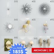 AC Wall lights set. Vol.5 3d model