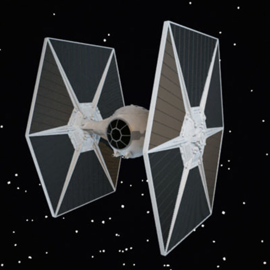 X-WIng et Tie Fighter royalty-free 3d model - Preview no. 10