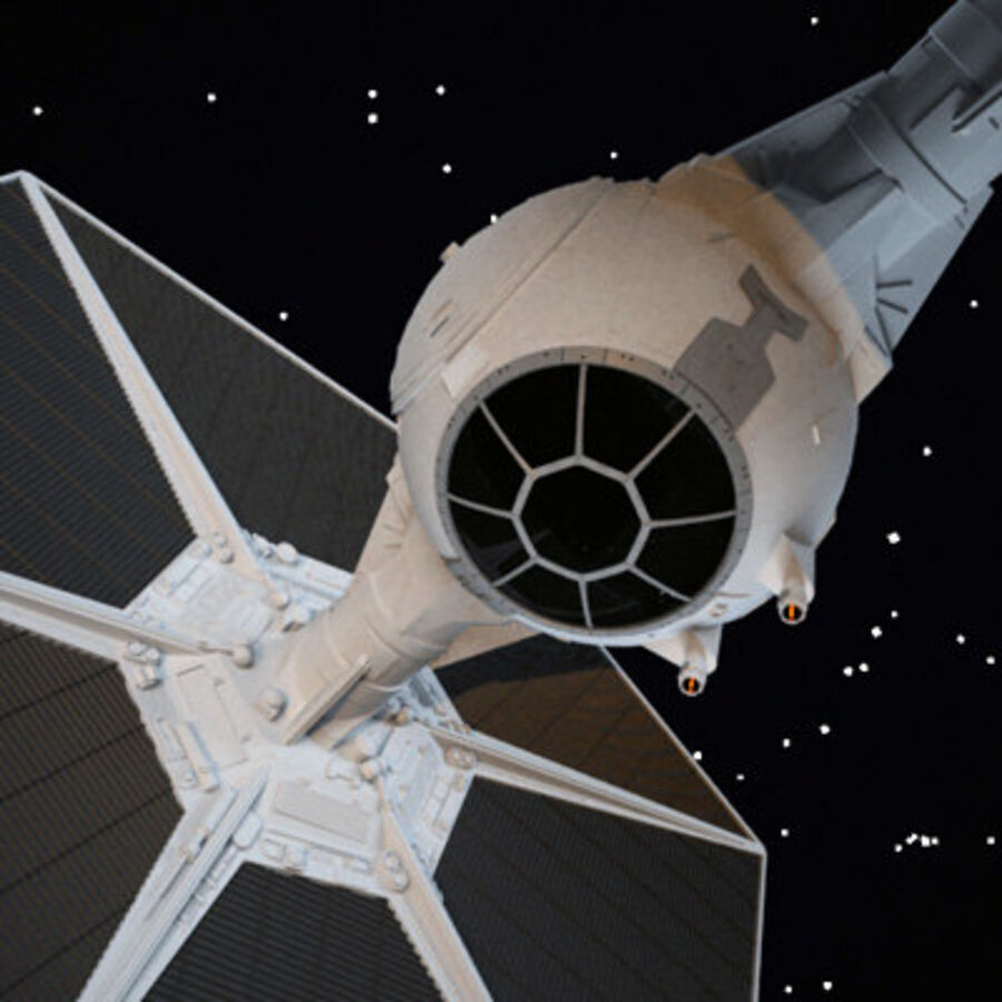 X-WIng et Tie Fighter royalty-free 3d model - Preview no. 7