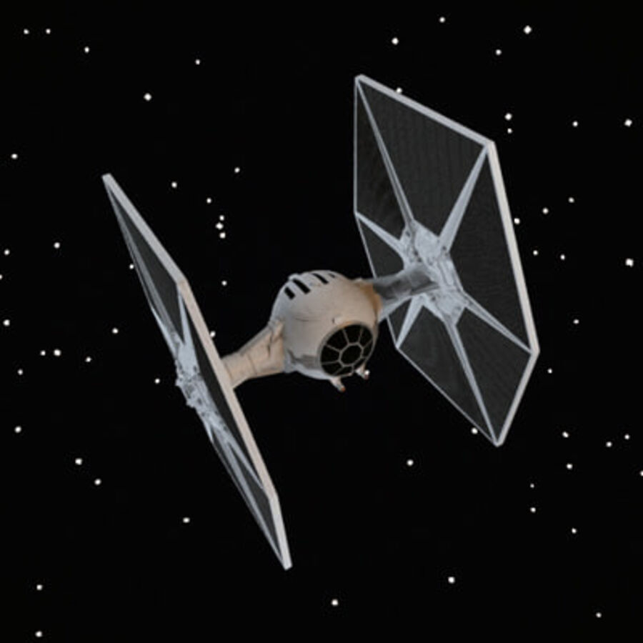 X-WIng et Tie Fighter royalty-free 3d model - Preview no. 4