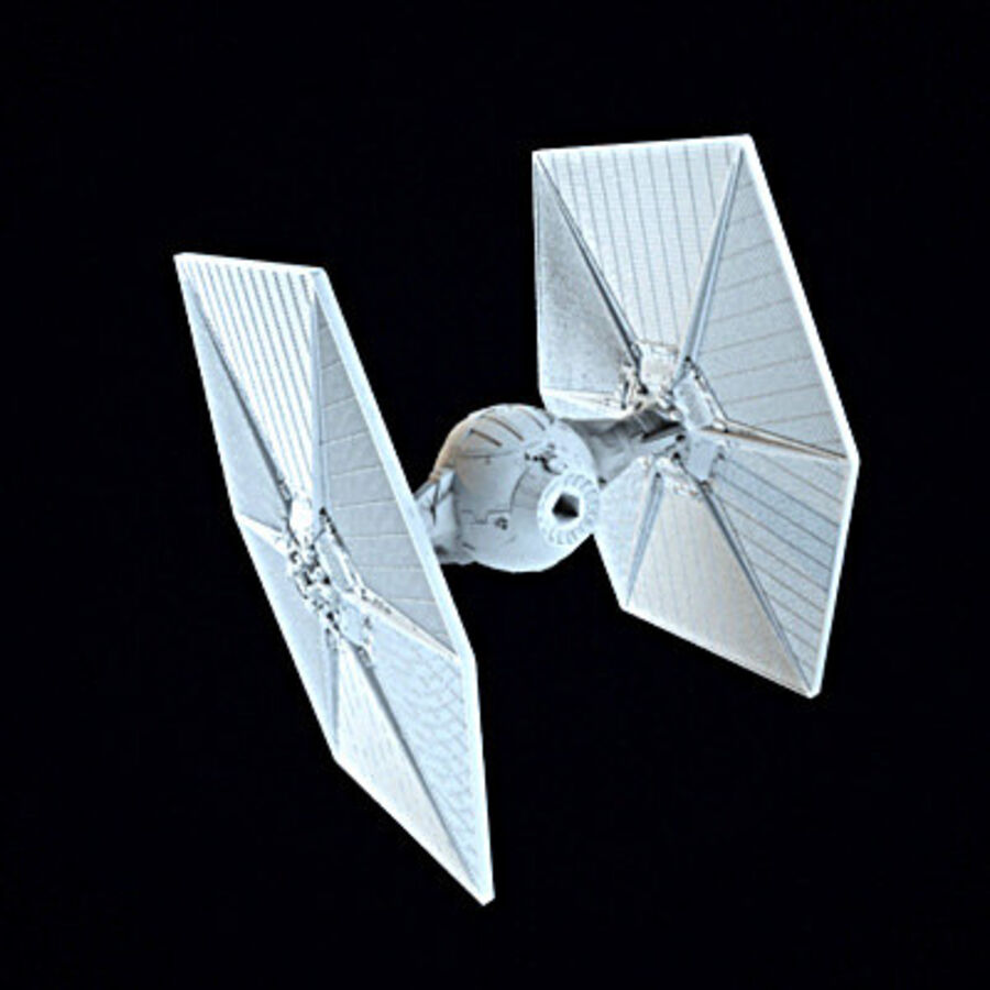 X-WIng et Tie Fighter royalty-free 3d model - Preview no. 12