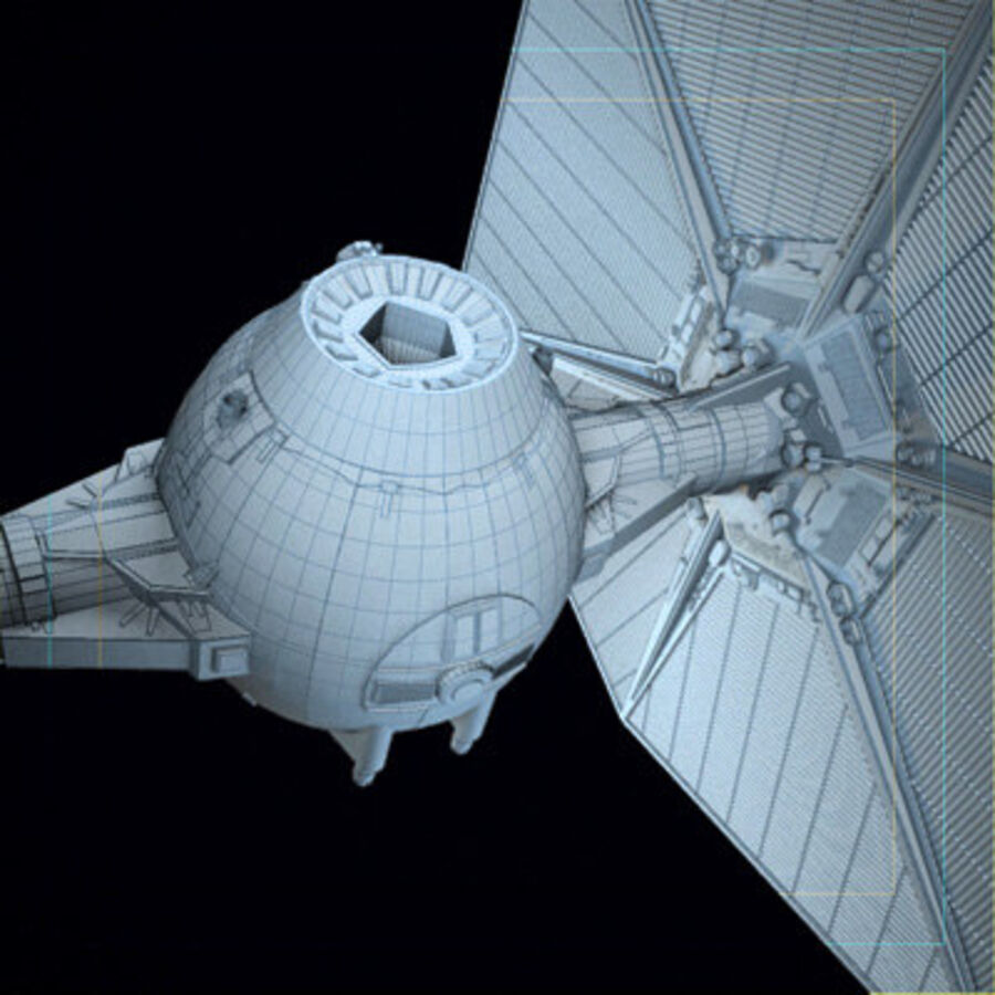 X-WIng and Tie Fighter royalty-free 3d model - Preview no. 15