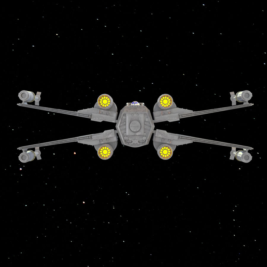 X-WIng et Tie Fighter royalty-free 3d model - Preview no. 22